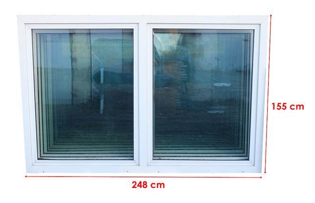 Markowe okna dwuskrzydłowe PCV z demontażu