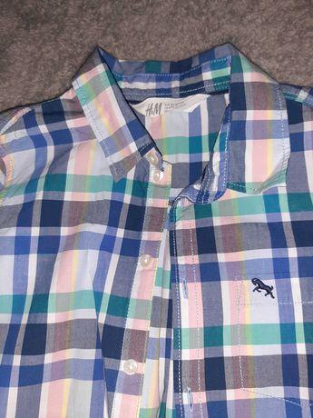 Koszula H&M rozm.134 kratka