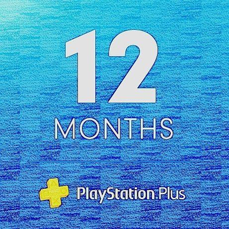 12 msc. PLAYSTATION Plus - kod/klucz *w5min 365dni PS3 PS4 PS5