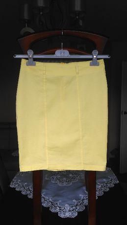 Spódnica żółta cytrynowa Pronto Moda D.S. midi