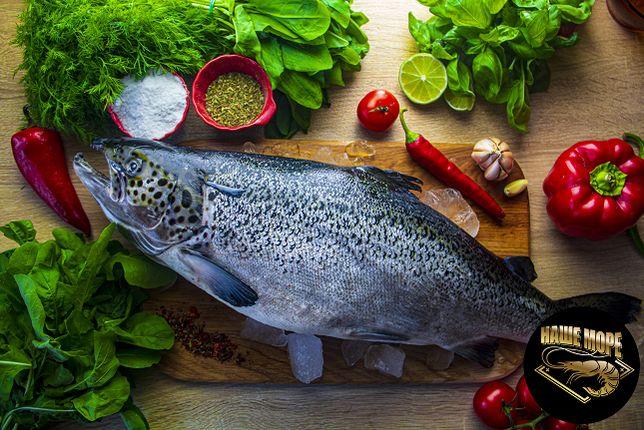 Свежая рыба:лосось,форель,пеленгас,журалка,лобань,бычок,калкан.
