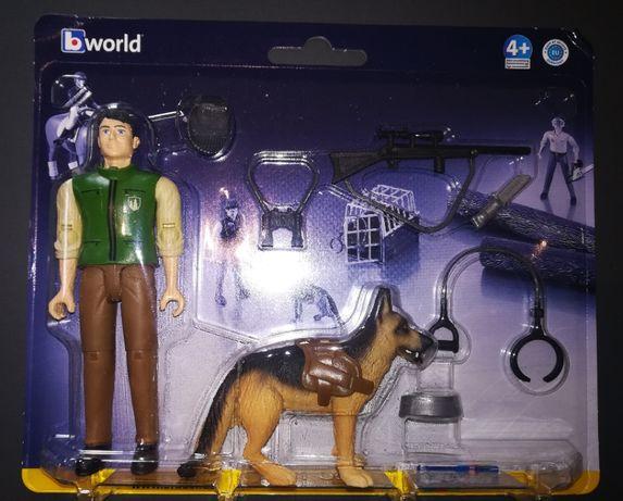 Bruder Leśniczy z psem i akcesoriami nowość 2020