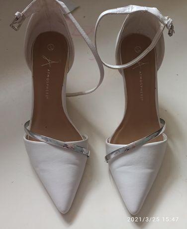 Buty ślubne białe szpilki