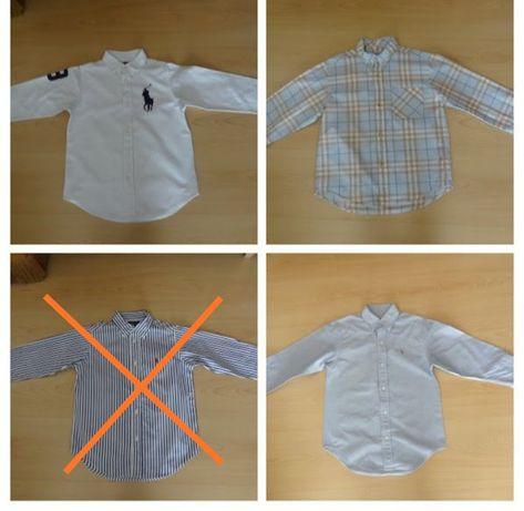 camisas das marcas Ralp Lauren E burberry tamanho 6 anos