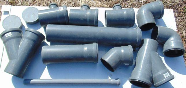 Пластиковые трубы для канализации.