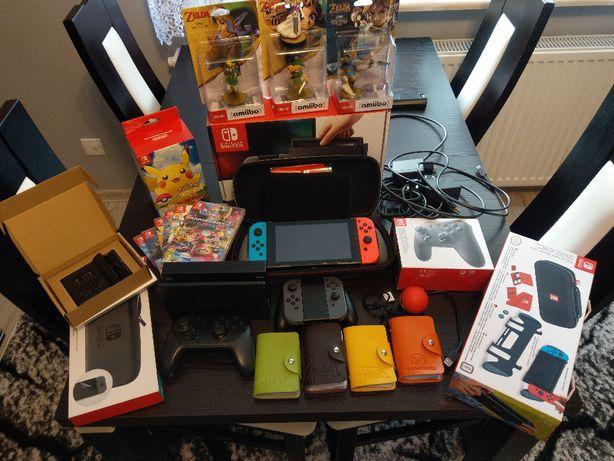 Nintendo Switch 22 gry ponad 60 Amiibo