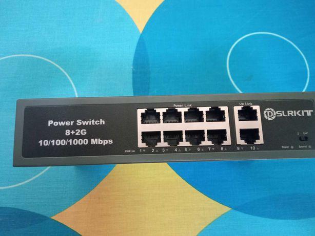 Switch POE 8x10/100 + 2X1000mbps UPLINK
