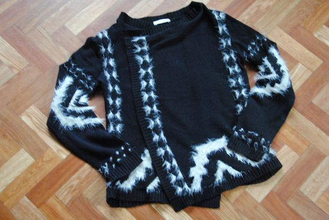 PROMOD piękny aztecki sweter/ narzutka S