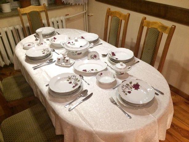 Porcelana serwis obiadowy Ćmielów 12 osobowy