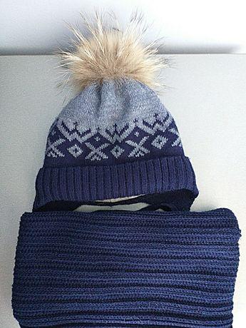 Зимний комплект шапка и снуд  ELF KIDS