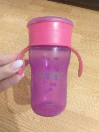 Чашка непроливайка philips Avent, большой обьем 330мл