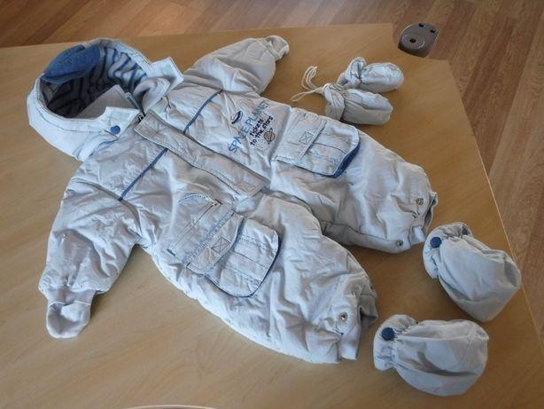 Zimowy kombinezon Coccobello błękitny kurtka r.74