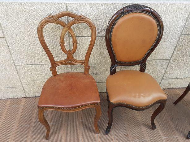 Cadeiras classicas em carvalho e mogno
