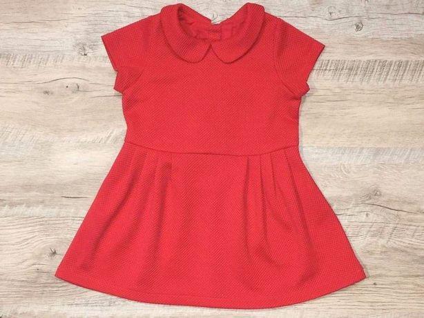 Czerwona NOWA elegancka sukienka 92 spódniczka