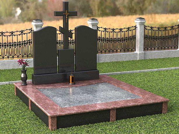 Памятники-гранитные, с инкрустацией, комбинированные от производителя.