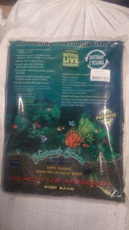 Песок для морского аквариума Reef Sand черный арагонитовый 4,54 кг