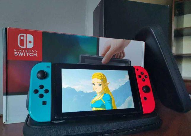 Прошитый Nintendo Switch полный комплект