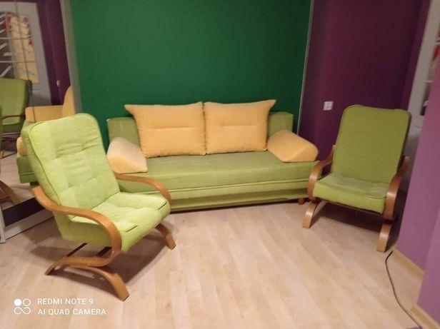 Komplet wypoczynkowy kanapa i dwa fotele