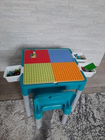 Stolik + krzeselko + klocki Lego