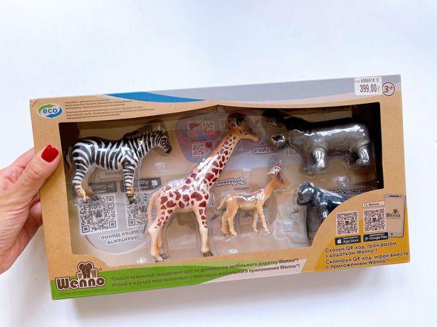 Фигурки животных Африки Wenno, детский игровой набор животных