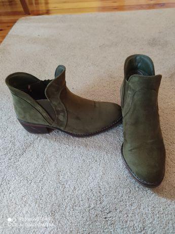 Buty botki Jenny Fair 38 zielony jak nowe