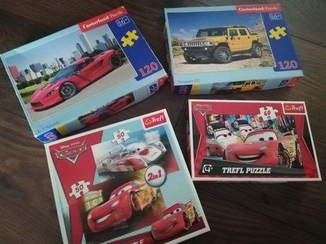 Zestaw puzzli dla chłopca auta