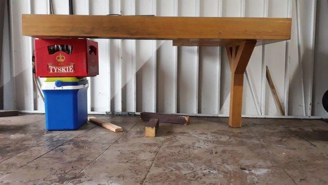 Półka dębowa obudowa kominka