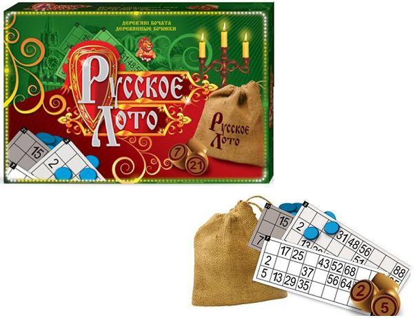 Настольная игра Лото Danko Toys DT-G39, Русское лото, бочонки