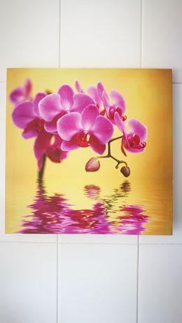 Quadro com imagem de orquídea