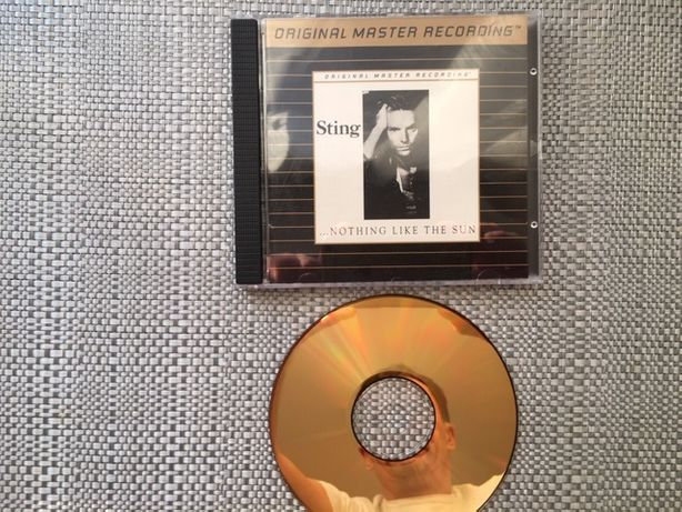 Sting ‎ Nothing Like The Sun MFSL 24 kt Gold Disc UDCD 546