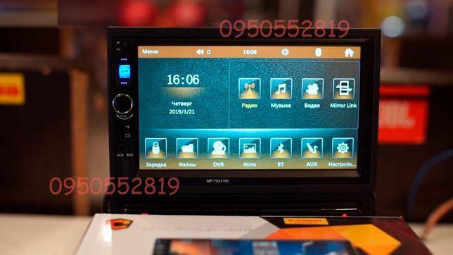 Pioneer Автомагнитола 7018 AUX, SD, Fm, USB, 2din, сенсор, Акция!