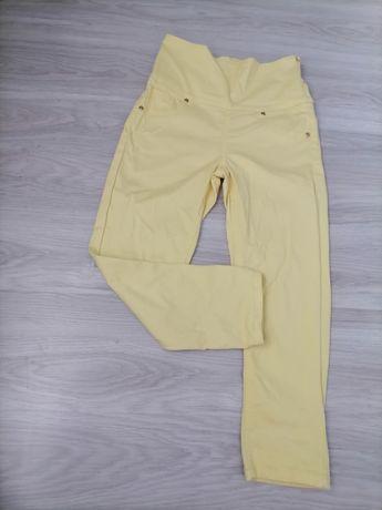 AVON cytrynowe spodnie rurki w kostkę z wysokim stanem wysoki stan r.S