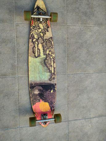 Skate Longboard Bambu + Carbono