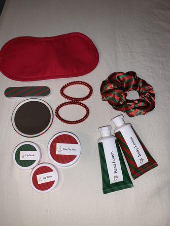 Zestaw kosmetyków do pielegnacji i akcesoria