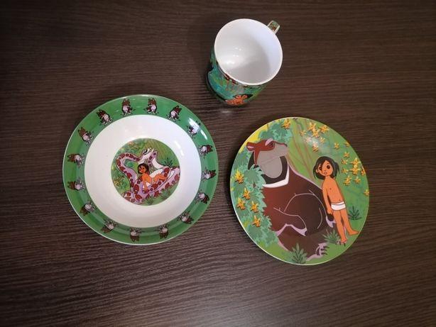 Набор детской посуды комплект посуды 3 в 1 фарфор(чашка,тарелка,пиалка