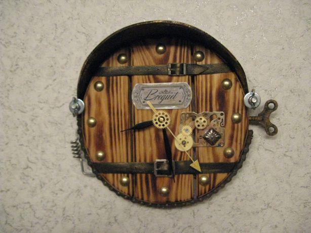 Лофт, стимпанк настенные часы