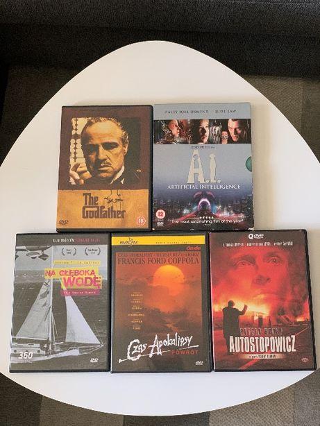 Filmy DVD, 5 tytułów, Coppola, Spielberg...