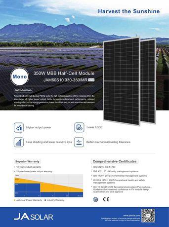 Painel Solar Fotovoltaico   Marca JA-Solar 345W (monocristalino)