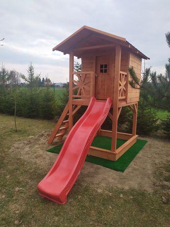 Domek dla dzieci zjeżdżalnia piaskownica