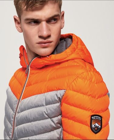 Зимняя мужская куртка Superdry Chevron Colour Block Down Jacket