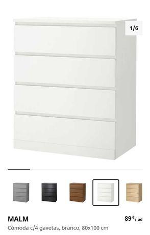 Cómoda MALM do IKEA