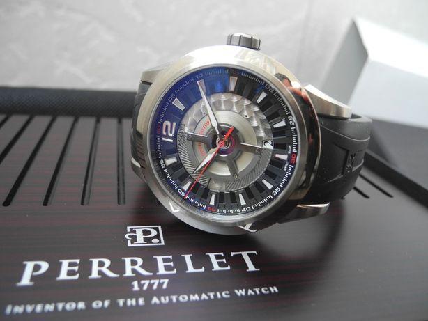 Часы PERRELET DOUBLE ROTOR 43mm Titanium Date Комплект Как Новые