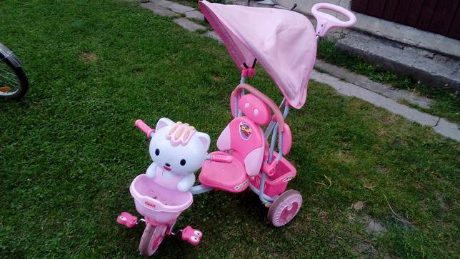 Rowerek dziecinny 3 kołowy do pchania