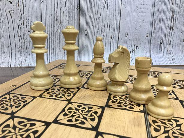 Большие Шахматы. Нарды. Деревянные 50х50см Новые