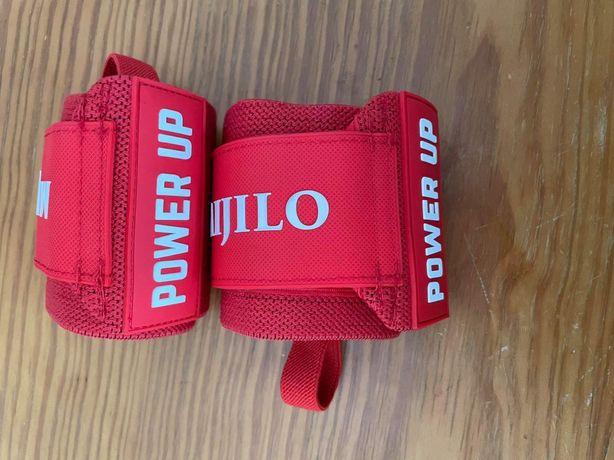 Powerlifter Pulseira ginasio proteção de pulso com garrafa myprotein