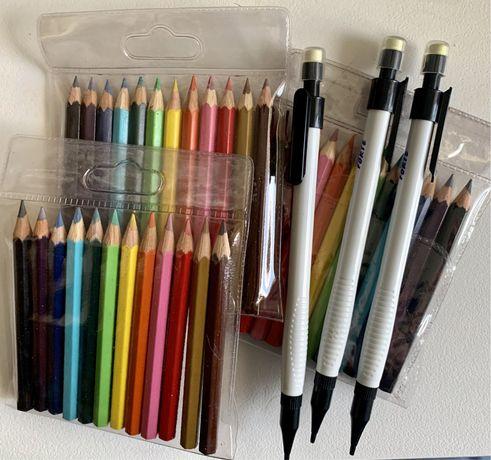 Lápis de Cor e Lapiseira com Borracha