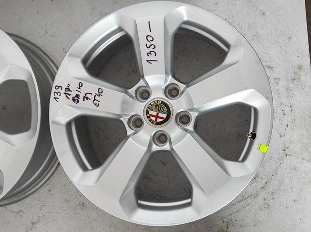 139 Felgi aluminiowe ALFA ROMEO R 17 5x110 Bardzo Ładne