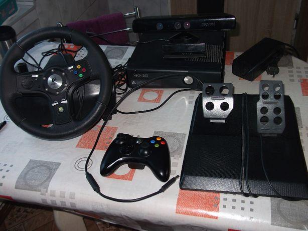 konsola xbox360,kinect i kierownica logitech
