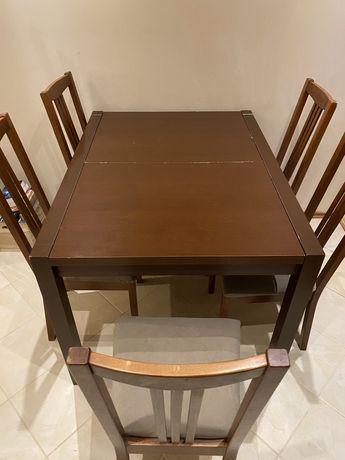 Stół rozkładany duży i krzesła komplet