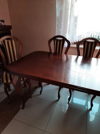 Stół dębowy +8 krzeseł